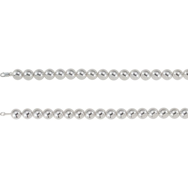 "Sterling Silver 14mm Bead 18"" Chain"
