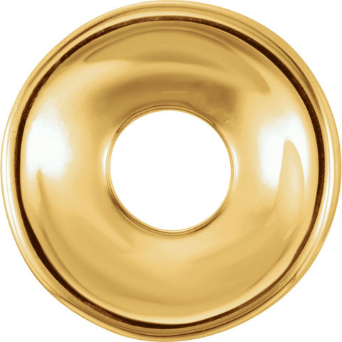 14k Yellow Gold 9mm Plain Roundel