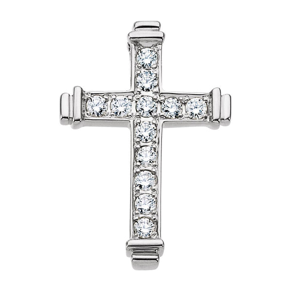 14k Yellow Gold .40 CTW Diamond Cross Pendant