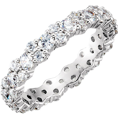 14k White Gold 1 3/4 CTW Diamond Eternity Band Size 7