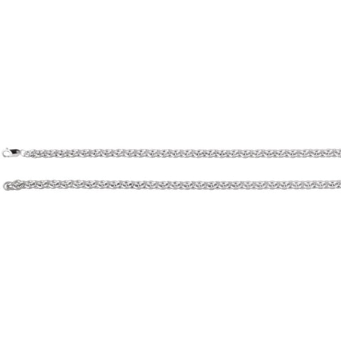 6.75 mm Cable Chain Bracelet in Sterling Silver ( 7.5-Inch )