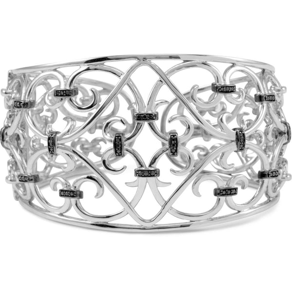 Sterling Silver Filigree Scroll Cuff Bracelet