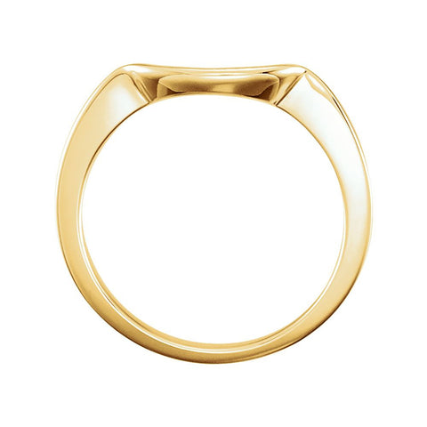 14k Yellow Gold Band for 5.8mm Engagement Ring, Size 6