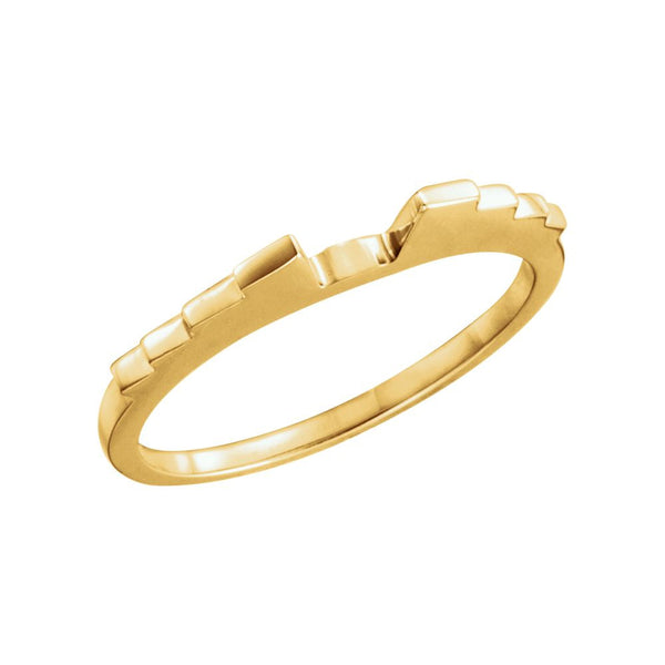 14k Yellow Gold Band , Size 6
