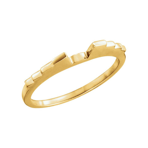 Wedding Band Ring for 1.25 CTTW Engagement Ring in 14k Yellow Gold (Size 6 )