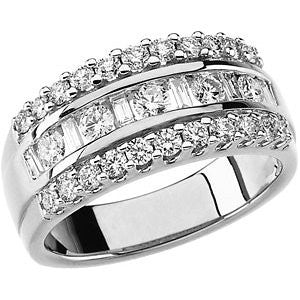 1 CTTW Diamond Anniversary Band in 14k White Gold (Size 6 )