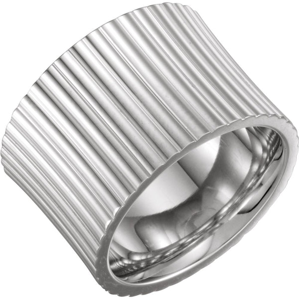 Sterling Silver Metal Fashion Ring, Size 7