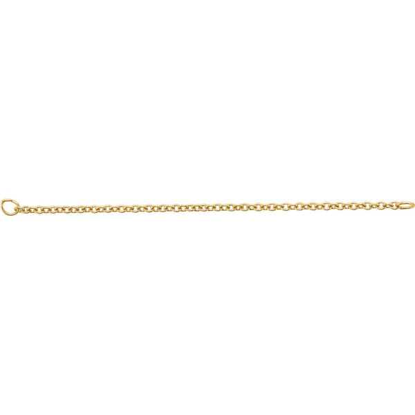 14k Yellow Gold Safety Chain with Jump Ring