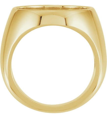 10K Yellow Gold Ring Mounting for 18 mm Coin (Size 10)