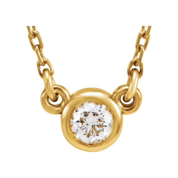 "14k Yellow Gold 1/10 CTW Diamond 18"" Necklace"