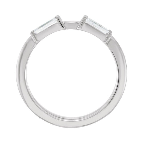 Platinum 1/2 CTW Diamond Ring Guard, Size 6