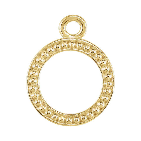 18k Yellow Gold 10.75mm Granulated Toggle Ring