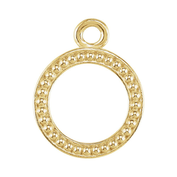 14k Yellow Gold 10.75mm Granulated Toggle Ring