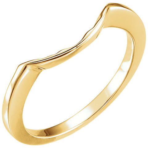 14k Yellow Gold Band for 8.8mm Engagement Ring, Size 6