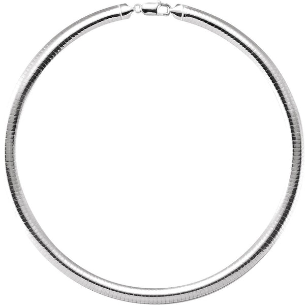 Sterling Silver 7.25mm Domed Omega 16