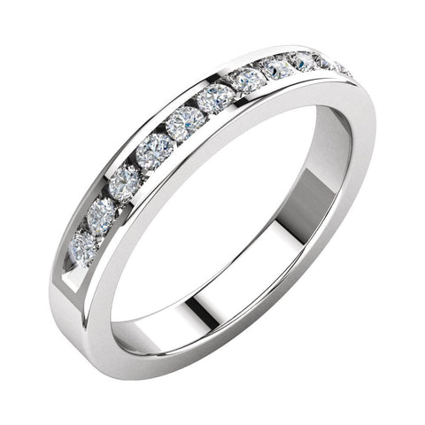 1/3 CTTW Round Diamond Anniversary Band in 14k White Gold (Size 6 )