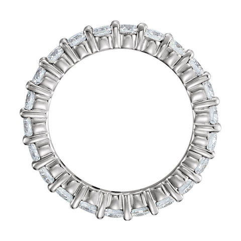 14k White Gold Eternity Band, Size 7