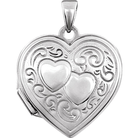Sterling Silver Double Heart Locket