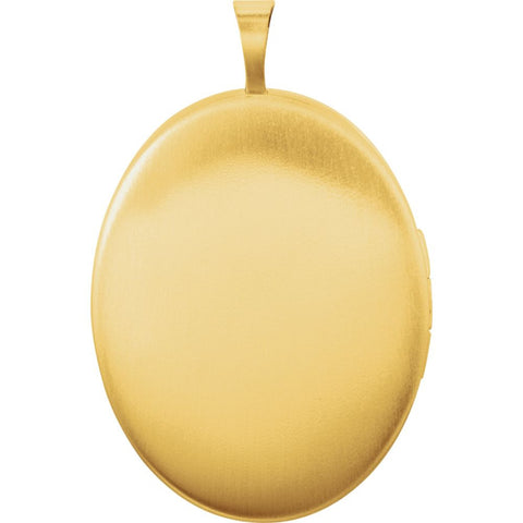 Gold Plated & Sterling Silver Oval Mom Locket with Color