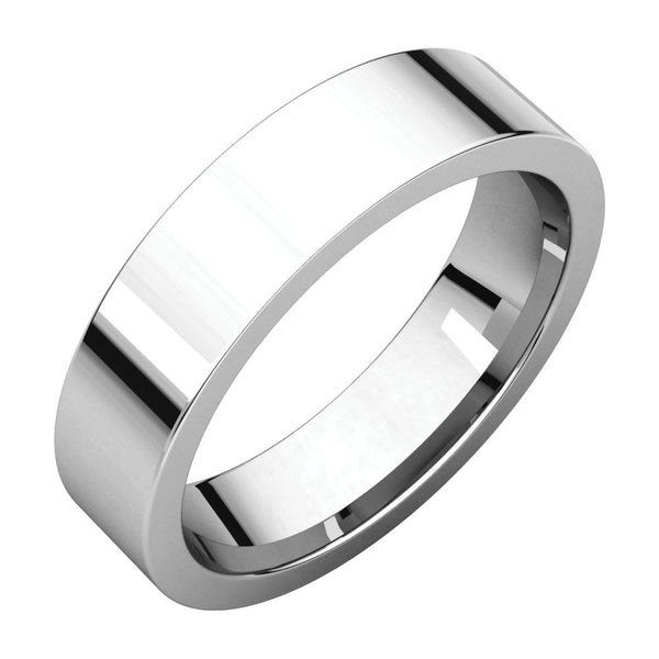 Sterling Silver 5mm Flat Band, Size 7