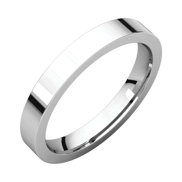 Sterling Silver 3mm Flat Band, Size 7