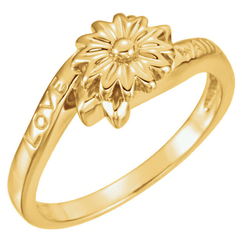 Love Waits Chastity Ring in 10k Yellow Gold ( Size 6 )