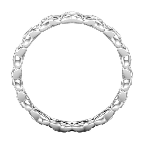 14k White Gold 1/3 CTW Diamond Eternity Band Size 7