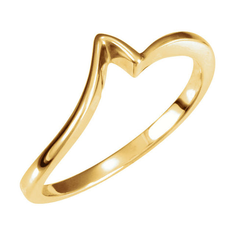 14k Yellow Gold Anniversary Band Mounting, Size 6