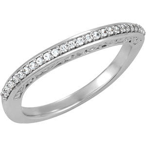 Stackable Anniversary Band Mounting in 14K White Gold (Size 6)