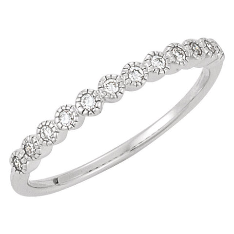 1/6 CTTW SI1-2, H-I Diamond Anniversary Band in 14K White Gold ( Size 6 )