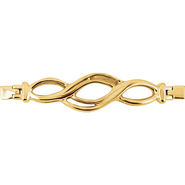 14k Yellow Gold Bracelet Center Trim