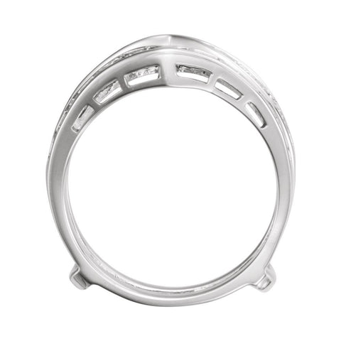 14k White Gold Ring Guard, Size 6