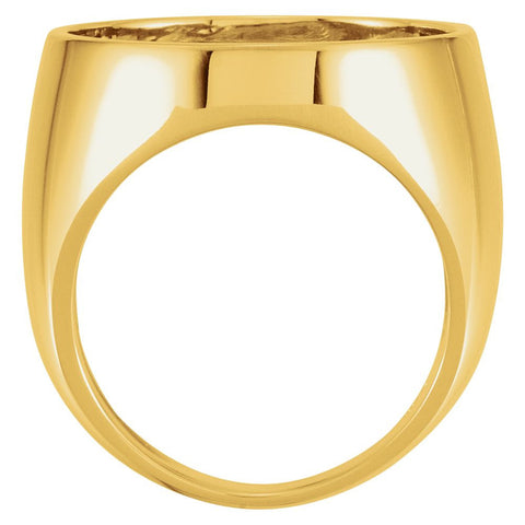 14k Yellow Gold Coin Ring Mounting, Size 11