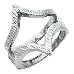 14k White Gold Ring Guard , Size 6