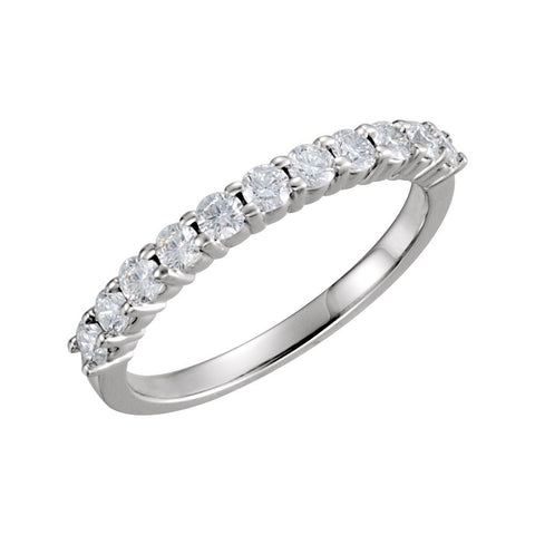 1/2 CTTW Anniversary Band in 14k White Gold ( Size 6 )