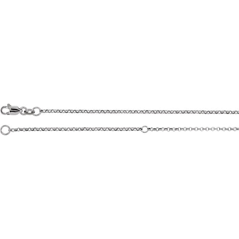 Sterling Silver 1.5mm Adjustable Rolo 18-20-Inch Chain