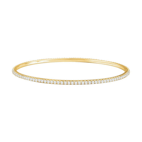 14k Yellow Gold 3 ctw. Diamond Stackable Bangle Bracelet