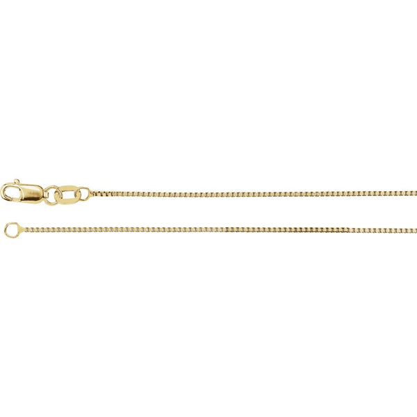 "14k Yellow Gold .75mm Box 18"" Chain"