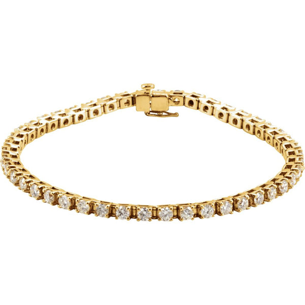 "14k Yellow Gold 4 1/2 CTW Diamond Line 7.25"" Bracelet"