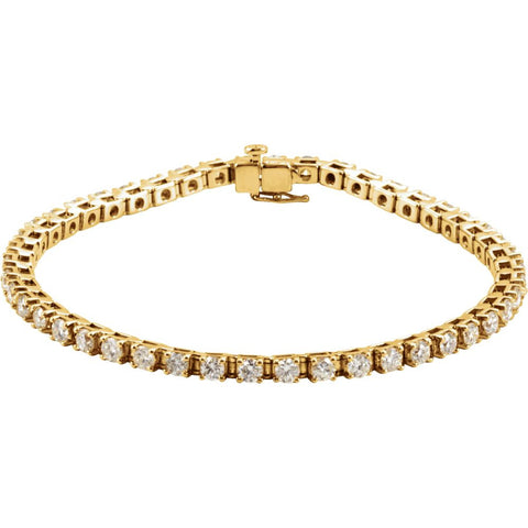 4 1/2 CTTW Diamond Tennis Bracelet in 14k Yellow Gold ( 7 1/4 Inch )