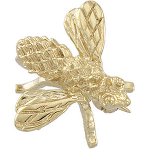 14k Yellow Gold 18x16mm Bee Brooch