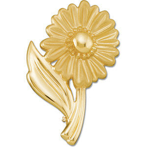 14k White Gold Floral-Inspired Brooch