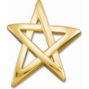 Star Shape Pendant in 14k Yellow Gold