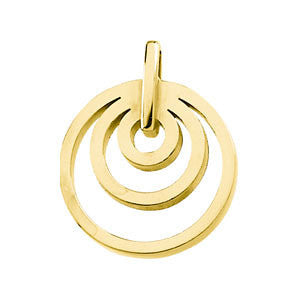 14k Yellow Gold Multi-Circle Pendant