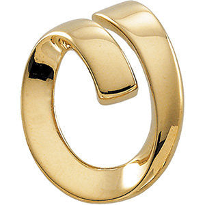 14k Yellow Gold Spiral Loop Omega Slide