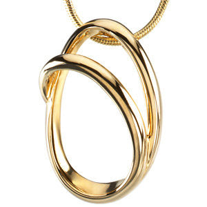 Metal Fashion Chain Slide in 14K Yellow Gold