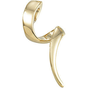 14k Yellow Gold Twisted Pendant Slide