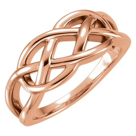 14k Rose Gold Freeform Ring, Size 7