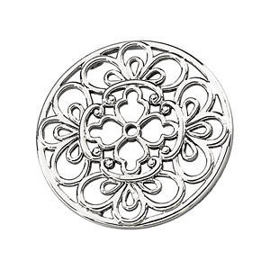 Circular Filigree Pendant in 14K Yellow Gold
