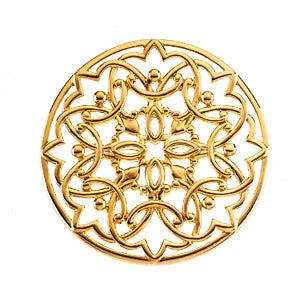 14k Yellow Gold Circular Filigree Pendant